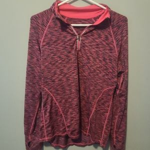 Ideology pink print workout top, long sleeve